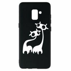 Чехол для Samsung A8+ 2018 Жирафы