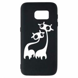 Чехол для Samsung S7 Жирафы