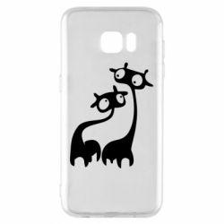 Чехол для Samsung S7 EDGE Жирафы