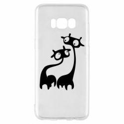 Чехол для Samsung S8 Жирафы