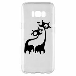 Чехол для Samsung S8+ Жирафы
