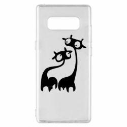Чехол для Samsung Note 8 Жирафы
