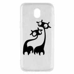 Чехол для Samsung J5 2017 Жирафы