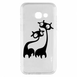 Чехол для Samsung A3 2017 Жирафы