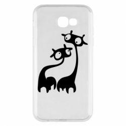 Чехол для Samsung A7 2017 Жирафы
