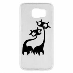 Чехол для Samsung S6 Жирафы