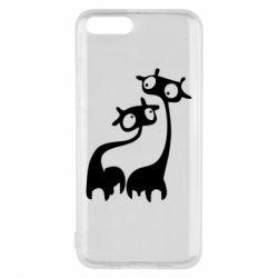 Чехол для Xiaomi Mi6 Жирафы