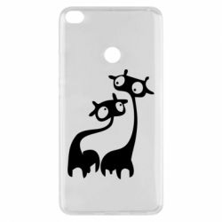 Чехол для Xiaomi Mi Max 2 Жирафы