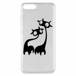 Чехол для Xiaomi Mi Note 3 Жирафы