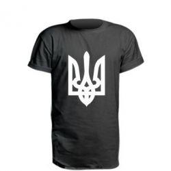 Удлиненная футболка Жирный Герб Украины - FatLine