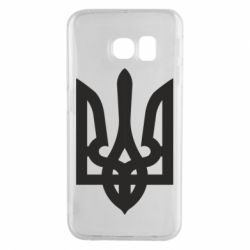 Чехол для Samsung S6 EDGE Жирный Герб Украины - FatLine