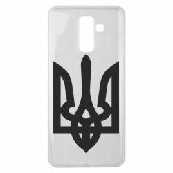 Чехол для Samsung J8 2018 Жирный Герб Украины - FatLine