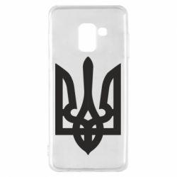 Чехол для Samsung A8 2018 Жирный Герб Украины - FatLine