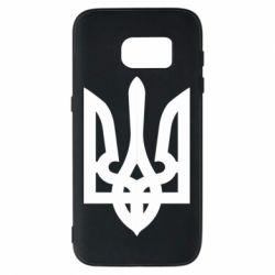 Чехол для Samsung S7 Жирный Герб Украины - FatLine