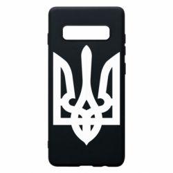 Чехол для Samsung S10+ Жирный Герб Украины