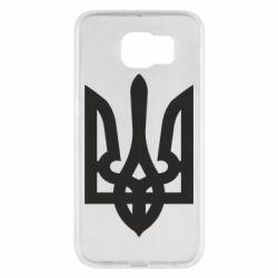 Чехол для Samsung S6 Жирный Герб Украины - FatLine