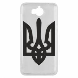 Чехол для Huawei Y5 2017 Жирный Герб Украины - FatLine