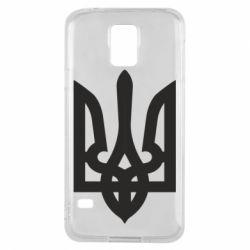 Чехол для Samsung S5 Жирный Герб Украины - FatLine