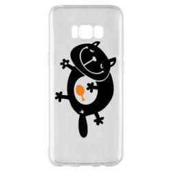 Чохол для Samsung S8+ Жирний кіт