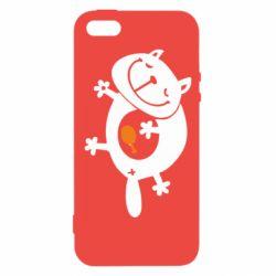 Чехол для iPhone5/5S/SE Жирный кот