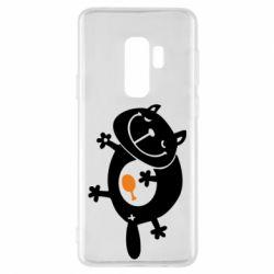 Чохол для Samsung S9+ Жирний кіт