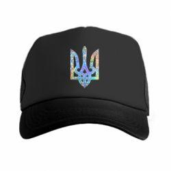 Кепка-тракер Жирный Герб Украины голограмма
