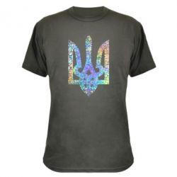 Камуфляжная футболка Жирный Герб Украины голограмма
