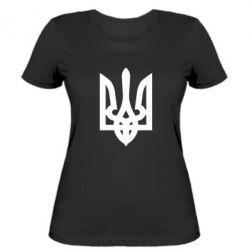 Женская футболка Жирный Герб Украины