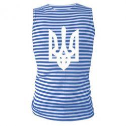 Майка-тельняшка Жирный Герб Украины