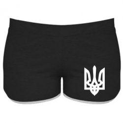 Женские шорты Жирный Герб Украины - FatLine