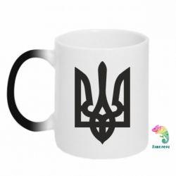 Кружка-хамелеон Жирный Герб Украины - FatLine