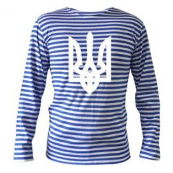 Тельняшка с длинным рукавом Жирный Герб Украины