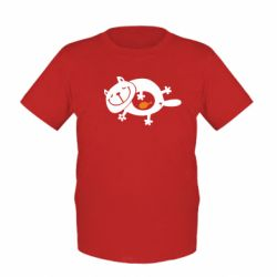 Детская футболка Жирный кот - FatLine