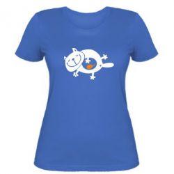 Жіноча футболка Жирний кіт - FatLine