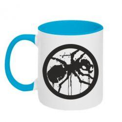 Кружка двухцветная 320ml Жирный муравей