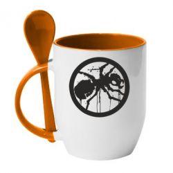 Кружка с керамической ложкой Жирный муравей