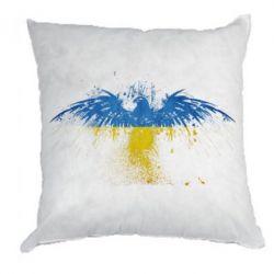 Подушка Жовто-блакитний птах - FatLine