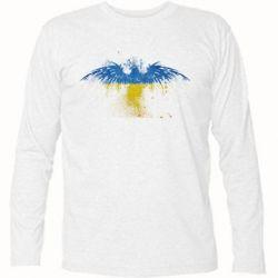 Футболка с длинным рукавом Жовто-блакитний птах - FatLine