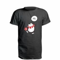 Подовжена футболка Зимовий пингвинчик