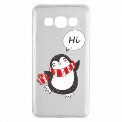 Чохол для Samsung A3 2015 Зимовий пингвинчик