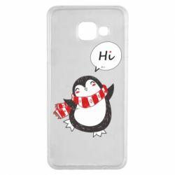 Чохол для Samsung A3 2016 Зимовий пингвинчик