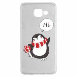 Чохол для Samsung A5 2016 Зимовий пингвинчик