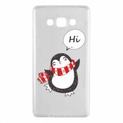 Чохол для Samsung A7 2015 Зимовий пингвинчик