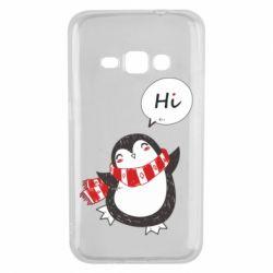 Чохол для Samsung J1 2016 Зимовий пингвинчик