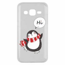 Чохол для Samsung J2 2015 Зимовий пингвинчик