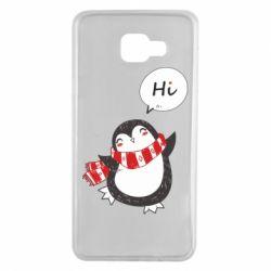 Чохол для Samsung A7 2016 Зимовий пингвинчик