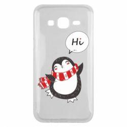 Чохол для Samsung J5 2015 Зимовий пингвинчик