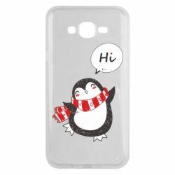 Чохол для Samsung J7 2015 Зимовий пингвинчик