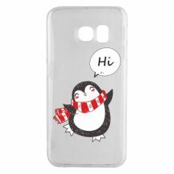 Чохол для Samsung S6 EDGE Зимовий пингвинчик