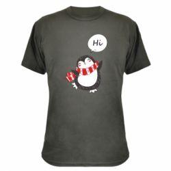 Камуфляжна футболка Зимовий пингвинчик